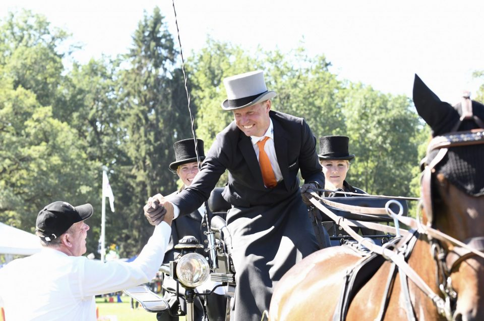 BRAM CHARDON NED 🏆🥇🎩                   Winner 2019 🐴🐴🐴🐴          FEI European Championship Driving, Donaueschingen.